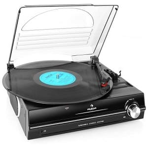 Plattenspieler mit Lautsprecher - Auna TBA-928 Schallplattenspieler Automatik-Plattenspieler mit Lautsprecher