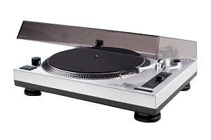 Plattenspieler kaufen - Dual DTJ DJ-Plattenspieler, Pitch-Control, Magnet-Tonabnehmer-System, Nadelbeleuchtung, USB, silber