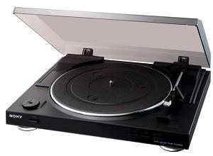 USB Plattenspieler -Sony PS-LX 300 USB Vollautomatischer Plattenspieler mit USB-Schnittstelle und DC-Servomotor