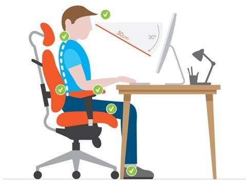 Ergonomie-Sitzposition-auf-Büro-und-PC-Gaming-Stuhl