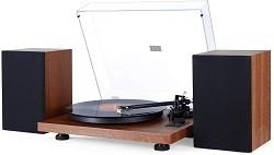 1 BY ONE Schallplattenspieler HiFi-Plattenspieler